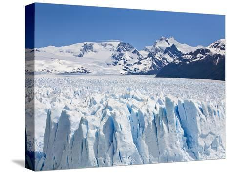 Massive Ice Towers on the Leading Edge of Perito Moreno Glacier-Mike Theiss-Stretched Canvas Print