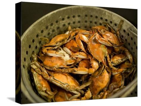 A Basket of Maryland Crabs-Aaron Huey-Stretched Canvas Print