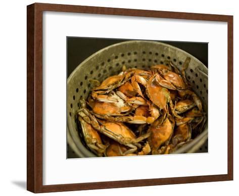 A Basket of Maryland Crabs-Aaron Huey-Framed Art Print