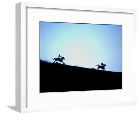 Horse Races and Indian Games in Commemoration of Little Big Horn-Aaron Huey-Framed Art Print