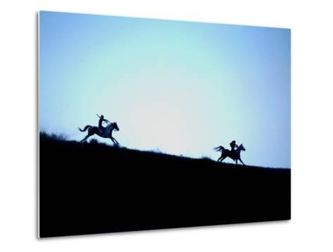 Horse Races and Indian Games in Commemoration of Little Big Horn-Aaron Huey-Metal Print