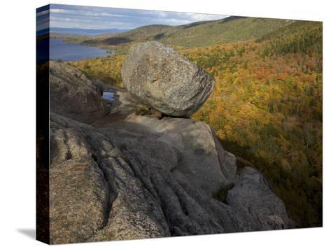 Bubble Rock, a Perfect Example of a Glacial Erratic-Tim Laman-Stretched Canvas Print