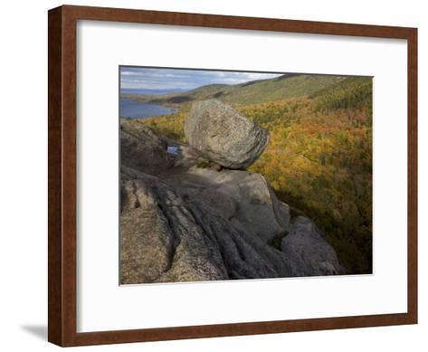 Bubble Rock, a Perfect Example of a Glacial Erratic-Tim Laman-Framed Art Print