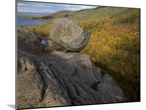 Bubble Rock, a Perfect Example of a Glacial Erratic-Tim Laman-Mounted Photographic Print