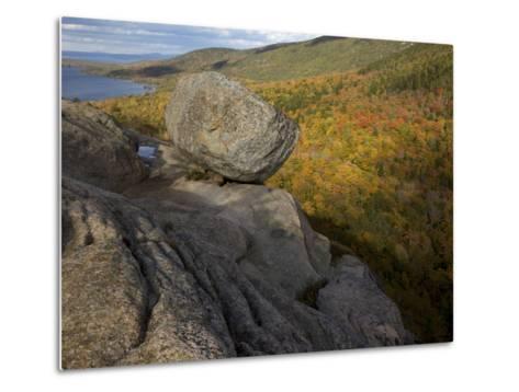 Bubble Rock, a Perfect Example of a Glacial Erratic-Tim Laman-Metal Print