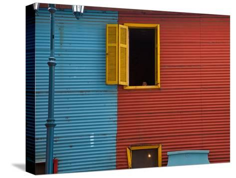 A Building in the La Boca Neighborhood of Buenos Aires-Michael S^ Lewis-Stretched Canvas Print