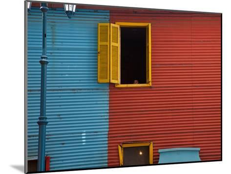 A Building in the La Boca Neighborhood of Buenos Aires-Michael S^ Lewis-Mounted Photographic Print