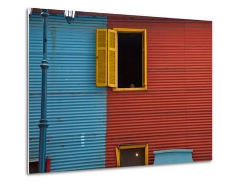 A Building in the La Boca Neighborhood of Buenos Aires-Michael S^ Lewis-Metal Print