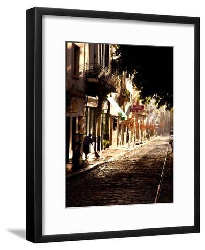 The Old Buenos Aires Neighborhood of San Telmo-Michael S^ Lewis-Framed Art Print