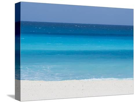 Shades of Blue Color the Beachfront Waters in Cancun, Mexico-Mike Theiss-Stretched Canvas Print