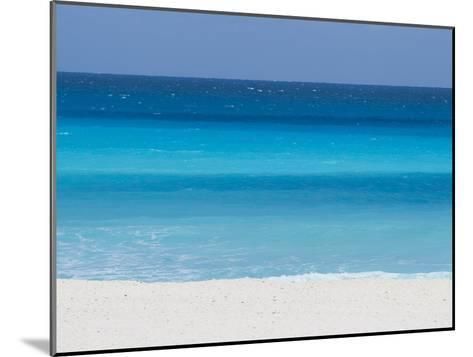Shades of Blue Color the Beachfront Waters in Cancun, Mexico-Mike Theiss-Mounted Photographic Print
