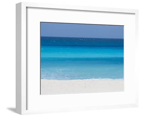 Shades of Blue Color the Beachfront Waters in Cancun, Mexico-Mike Theiss-Framed Art Print