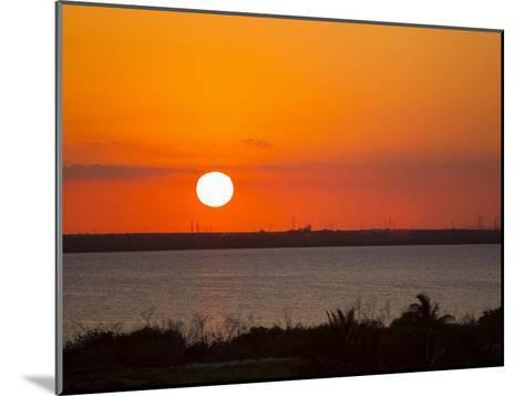 Dramatic Sunset over the Mainland in Cancun, Mexico-Mike Theiss-Mounted Photographic Print
