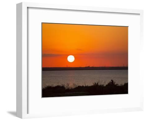Dramatic Sunset over the Mainland in Cancun, Mexico-Mike Theiss-Framed Art Print