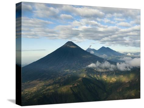 Aerial View of Volcanoes in the Lake Atitlan Area-Karen Kasmauski-Stretched Canvas Print