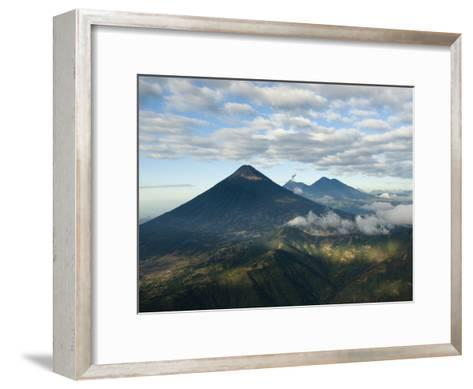 Aerial View of Volcanoes in the Lake Atitlan Area-Karen Kasmauski-Framed Art Print