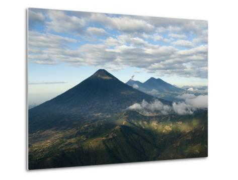 Aerial View of Volcanoes in the Lake Atitlan Area-Karen Kasmauski-Metal Print