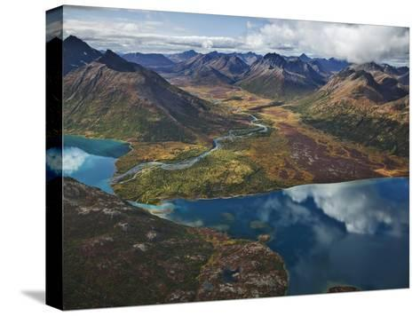 Chikuminuk Lake Reflects the Wilderness of Wood-Tikchik State Park-Michael Melford-Stretched Canvas Print