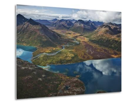 Chikuminuk Lake Reflects the Wilderness of Wood-Tikchik State Park-Michael Melford-Metal Print