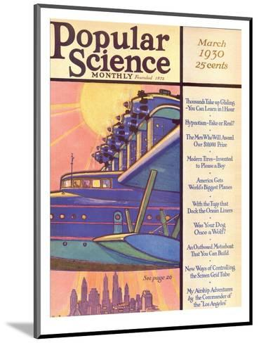 Front Cover of Popular Science Magazine: March 1, 1930--Mounted Art Print