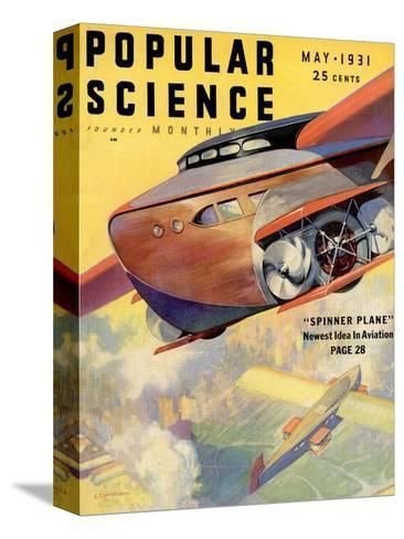 Front Cover of Popular Science Magazine: May 1, 1931--Stretched Canvas Print