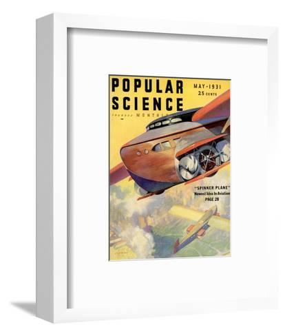 Front Cover of Popular Science Magazine: May 1, 1931--Framed Art Print