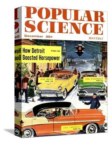 Front Cover of Popular Science Magazine: December 1, 1950--Stretched Canvas Print