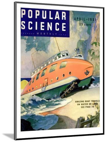 Front Cover of Popular Science Magazine: April 1, 1930--Mounted Art Print
