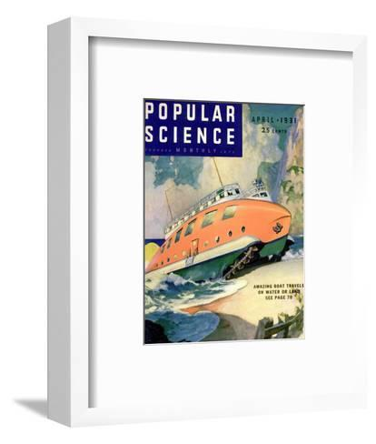 Front Cover of Popular Science Magazine: April 1, 1930--Framed Art Print