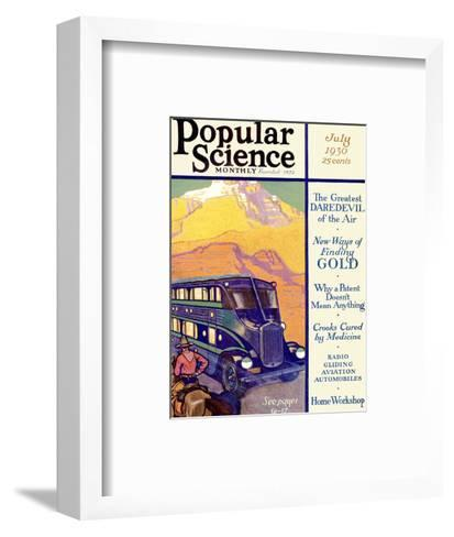 Front Cover of Popular Science Magazine: July 1, 1930--Framed Art Print