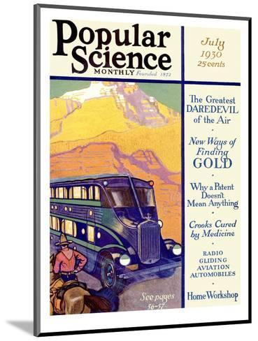 Front Cover of Popular Science Magazine: July 1, 1930--Mounted Art Print