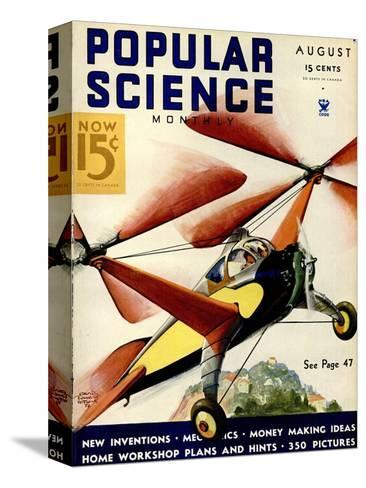 Front Cover of Popular Science Magazine: August 1, 1930--Stretched Canvas Print