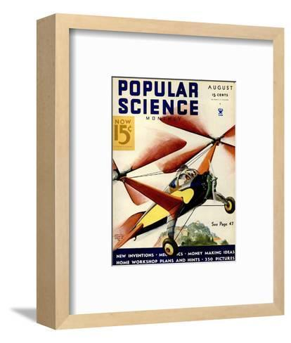 Front Cover of Popular Science Magazine: August 1, 1930--Framed Art Print