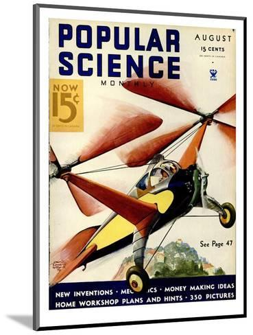 Front Cover of Popular Science Magazine: August 1, 1930--Mounted Art Print