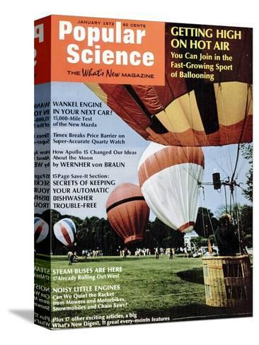 Front Cover of Popular Science Magazine: January 1, 1972--Stretched Canvas Print