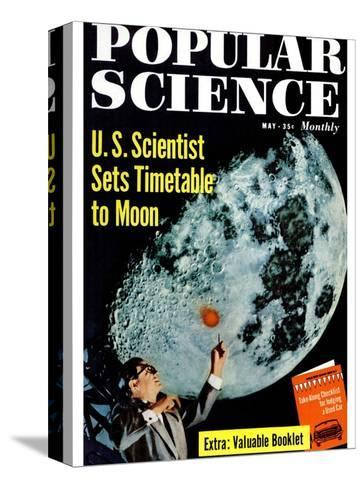 Front cover of Popular Science Magazine: May 1, 1950--Stretched Canvas Print