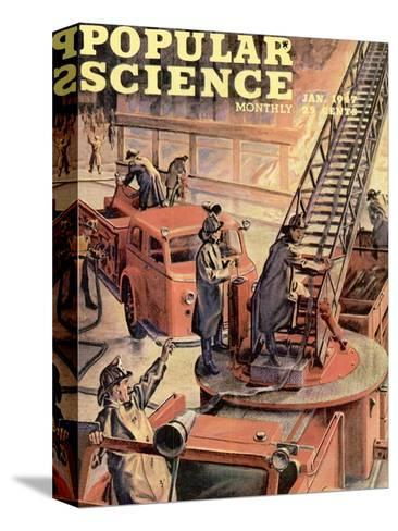 Front cover of Popular Science Magazine: January 1, 1947--Stretched Canvas Print