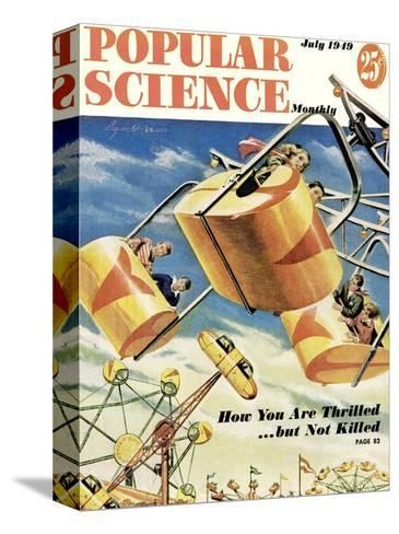 Front cover of Popular Science Magazine: July 1, 1949--Stretched Canvas Print