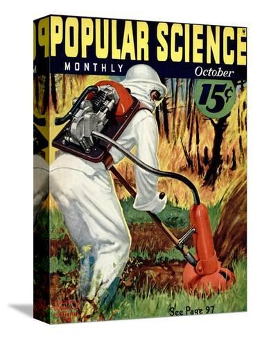 Front cover of Popular Science Magazine: October 1, 1930--Stretched Canvas Print