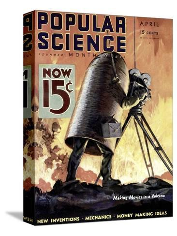 Front cover of Popular Science Magazine: April 1, 1900--Stretched Canvas Print