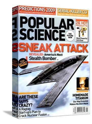 Front cover of Popular Science Magazine: January 1, 2009--Stretched Canvas Print