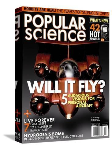 Front cover of Popular Science Magazine: January 1, 2005--Stretched Canvas Print