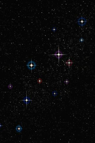 Stars--Stretched Canvas Print