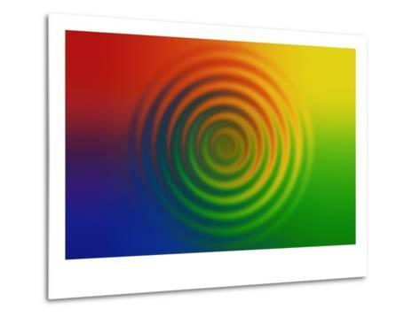 Concentric Circles in Color Field--Metal Print