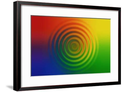 Concentric Circles in Color Field--Framed Art Print