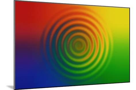 Concentric Circles in Color Field--Mounted Giclee Print