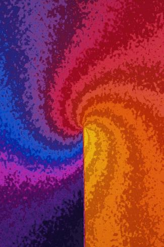 Rainbow Colored Spiral--Stretched Canvas Print