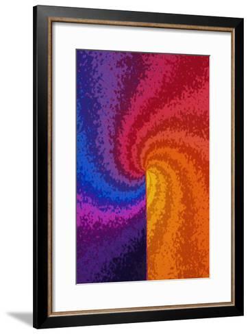 Rainbow Colored Spiral--Framed Art Print
