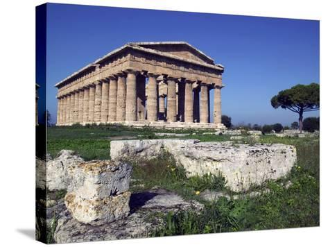 Ruins of the Temple of Neptune-Marco Cristofori-Stretched Canvas Print
