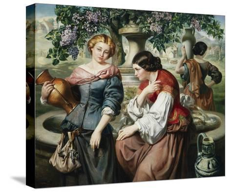 The Village Gossips-Daniel Maclise-Stretched Canvas Print